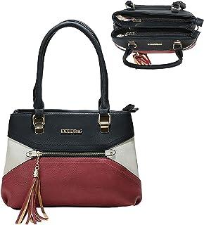 Purses and Handbags For Women Medium Satchel Pu Leather Pockets Zipper Tassel Color Fashion Shoulder Bags