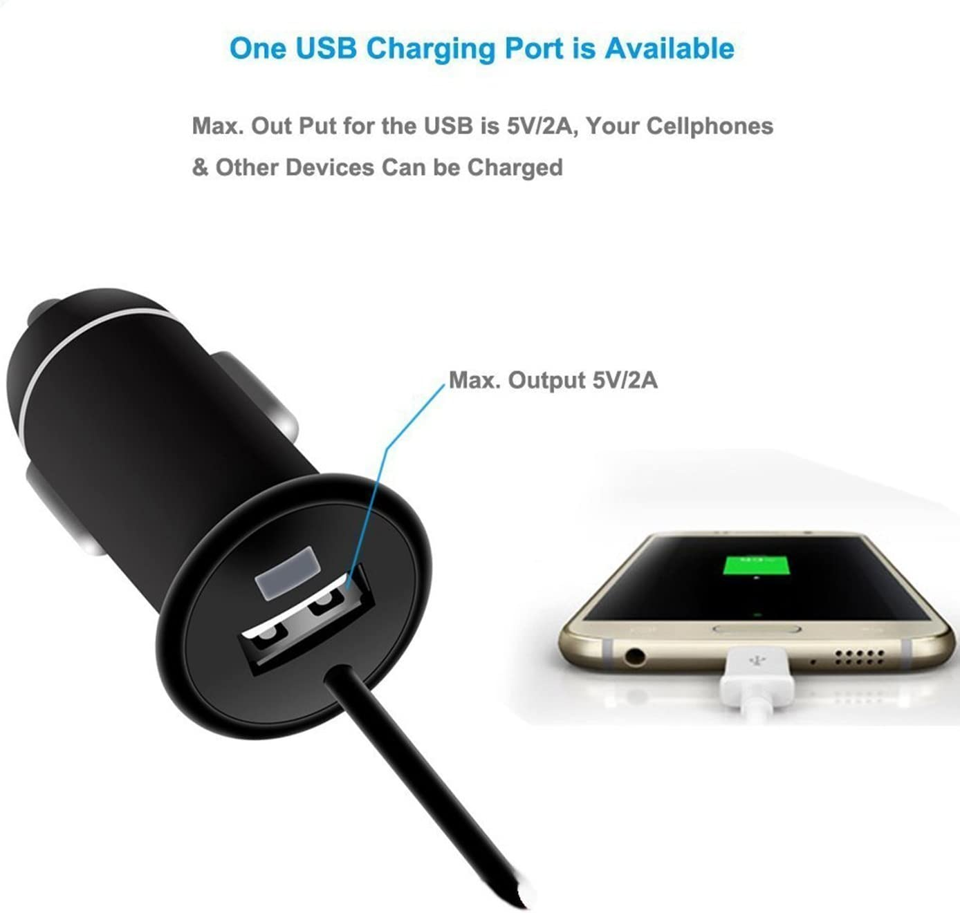 Handsfree Built-in Mic Speaker TF Card MP3 Player with 5V//2A USB Car Charger Grey iSunnao FM Transmitter Bluetooth Car Kit