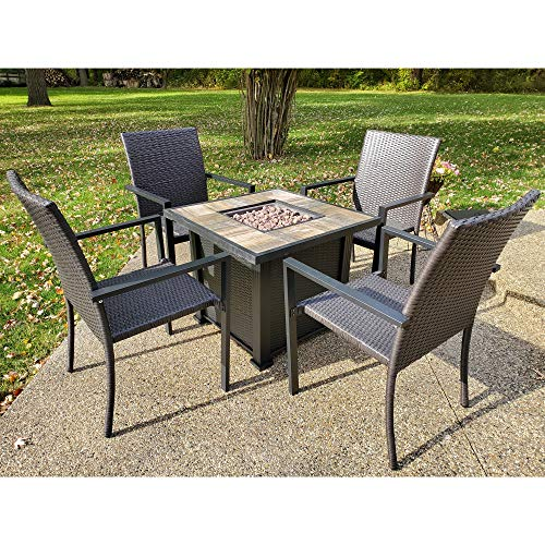 Leisure Classics Harbor Springs Outdoor Fire Pit Set