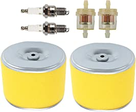 Allong Pack of 2 17210-ZE3-505 Air Filter with Fuel Filter Spark Plug for Honda GX340 GX390 13HP 11HP Lawnmower