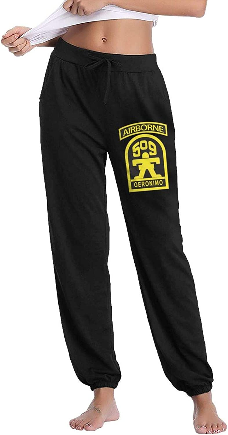 509th Geronimo Airborne Womans Super Soft Casual Pants with Pockets