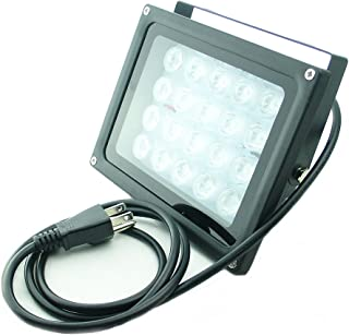 QUANS 110V 20W UV Ultra Violet High Power LED Light for Curing Glue Blacklight Fishing Aquarium with US Plug