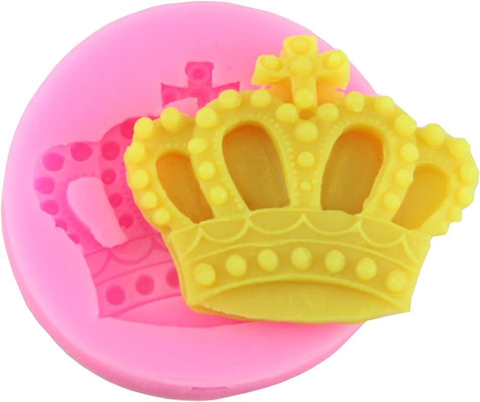 Mujiang Baking Molds Silicone Crown Fondant Mold Queen Candy Chocolate Molds For Sugar Craft Gum Pate Cake Decorating