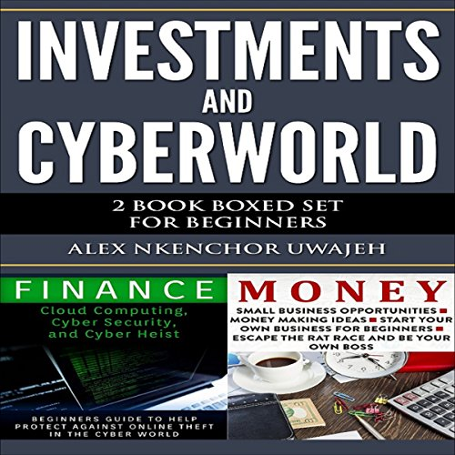 Investments and CyberWorld audiobook cover art