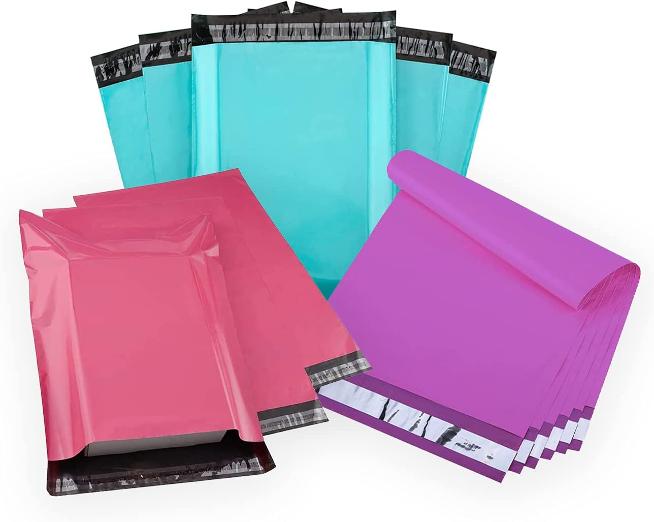 Metronic Poly Mailers Assorted Variety 25% OFF Pink 10x13 Teal Discount mail order Pack