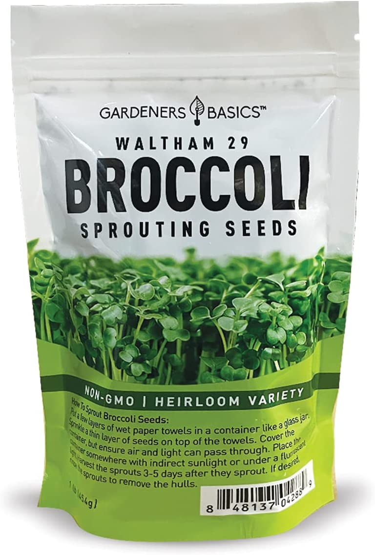 Broccoli Seeds for Sprouting Kit Free shipping Heirlo Non-GMO Microgreens Max 51% OFF and