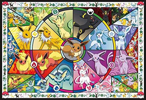 Lilqiu Pokémon - Vidrieras de Eevee - Rompecabezas de 1000 Piezas para Adultos