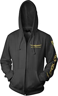 Men's Official Licensed Products Gold Wing Corporate Logo Hoody Zip Sweatshirts