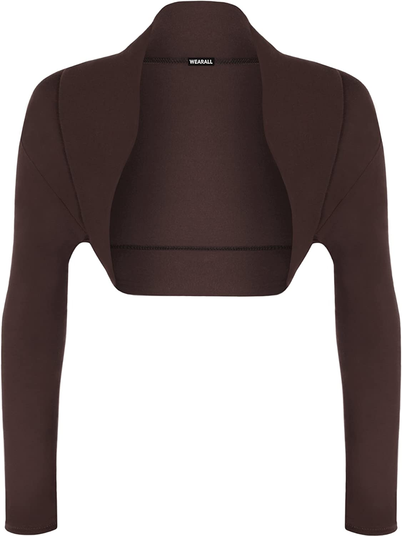 WearAll Houston Mall Many popular brands Womens Long Sleeve Cardigan Bolero Shrug