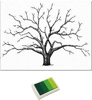 LOVIVER Boda, Huella Digital, árbol, Pintura De Dedos, Firma De Bodas, Libro De Visitas - Verde