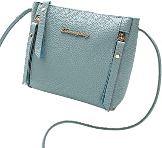 RONSHIN Women Fashion Casual Solid Color Single Shoulder Satchel with Zipper