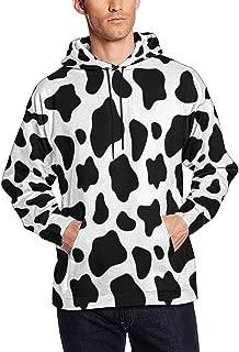 InterestPrint Men's Front Pocket Pullover Hoodie Sweatshirt