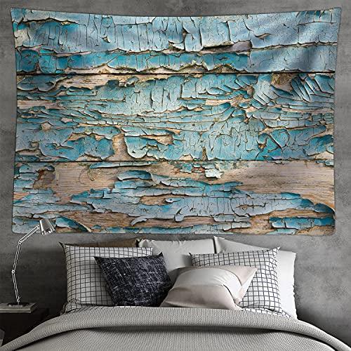 Tapices de textura de madera áspera de Classics rústica, carpintería de madera dura, colgante de pared ancha para dormitorio, sala de estar, dormitorio de 80 x 60 pulgadas