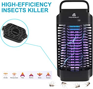 Homesuit 18w Bug Zapper for Outdoor & Indoor ,Electric 4200V Mosquito Zapper,Electronic Mosquito Killer/Insect Fly Pest T