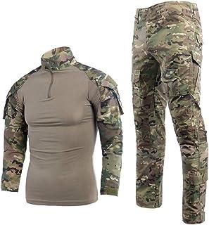 Airsoft Shirts Multicam Pants Survival Tactical Gear for Men Camo BDU Uniform Ripstop Tactical Suit Police Riot Gear