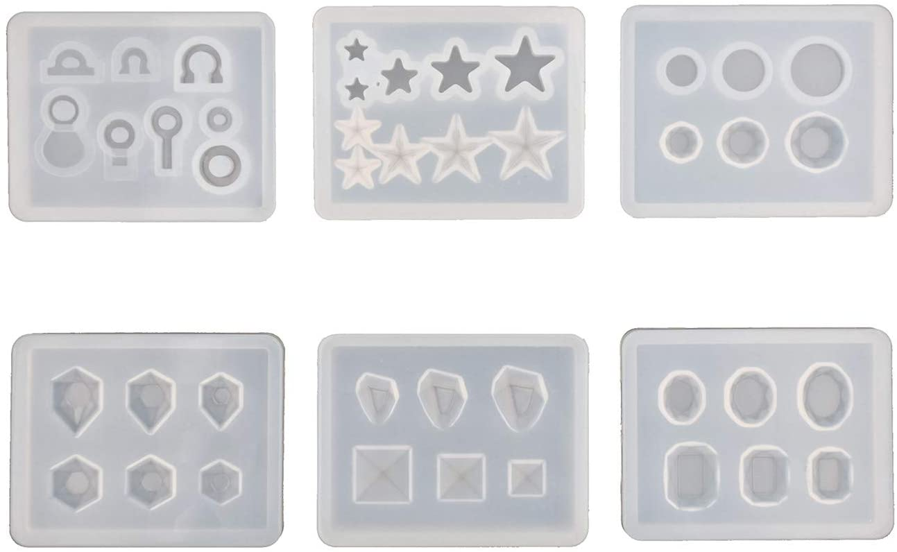 45mm Flat Circle Silicone Mold Scallop Edge Charm Mould Resin Pendant Crafter Shape Earring Link EM03