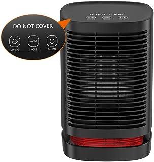 Uvistare Calefactor Eléctrico Portátil Calentador 950W Calefactor de Aire Caliente Termoventiladores de Ventilador Calentador de Cerámica de PTC para Hogar y Oficina Protección del Sobrecalentamiento