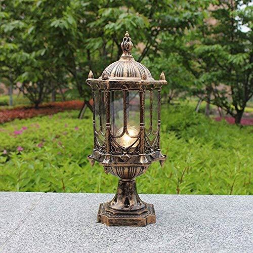 Al Aire Libre Impermeable Post Light Lámpara de Columna Villa jardín Ruta de Escritorio Luces de césped de Cristal Transparente Sombra de Glass Patio Iluminación E27 D Lámpara de Pilar BJY969