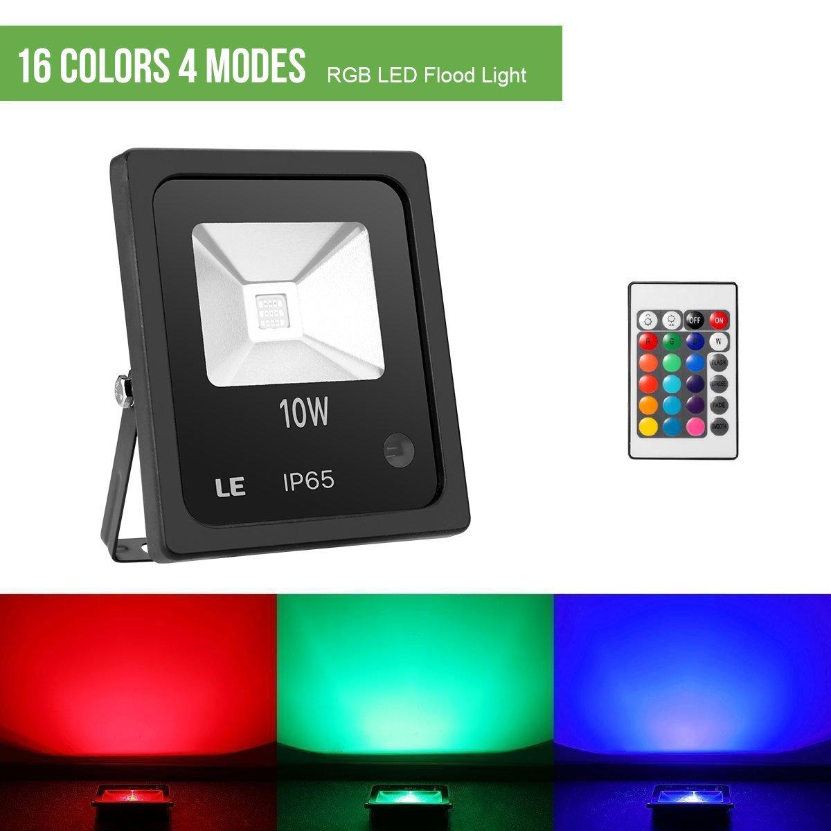 LE Foco LED RGB de 10W, 16 Colores y 4 Modos, Foco Proyector ...