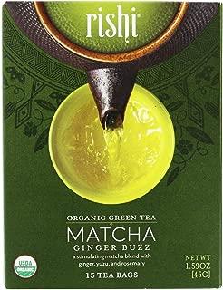 Rishi Tea Organic Green Tea Matcha Ginger Buzz 15 Tea Bags 1 59 oz 45 g