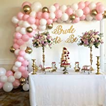 AlexBasic 112 Balloon Garland Arch Kit Pink and Gold Balloon Arch Garland for Baby Shower Birthday Party Backdrop Background Decorations