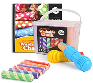 JarMelo Washable Sidewalk 24 Colours Chalk Kit with 2 Holders