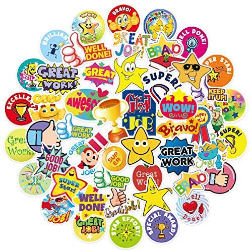 QWDDECO Sticker Set Kinder 50-PCS Kawaii Belohnung Aufkleber Sticker for Laptop, Wasserflaschen, Skateboard, Wand, Notebook Gitarre, Reise, Fahrrad