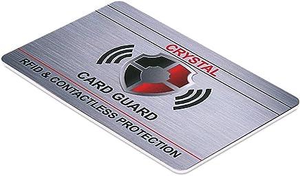 Crystal Kontaktlose RFID/NFC-Blockier-Karte, Kredit- und Bankkarten-Schutz f�r Damen und Herren, sch�tzt Pass, Brieftasche und Geldb�rse vor Betrug : B�robedarf & Schreibwaren