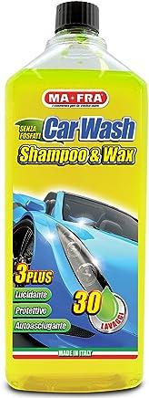 Ma-Fra MAH0930 Shampoo e Cera Car Wash, Giallo Fluo, 1000 ml