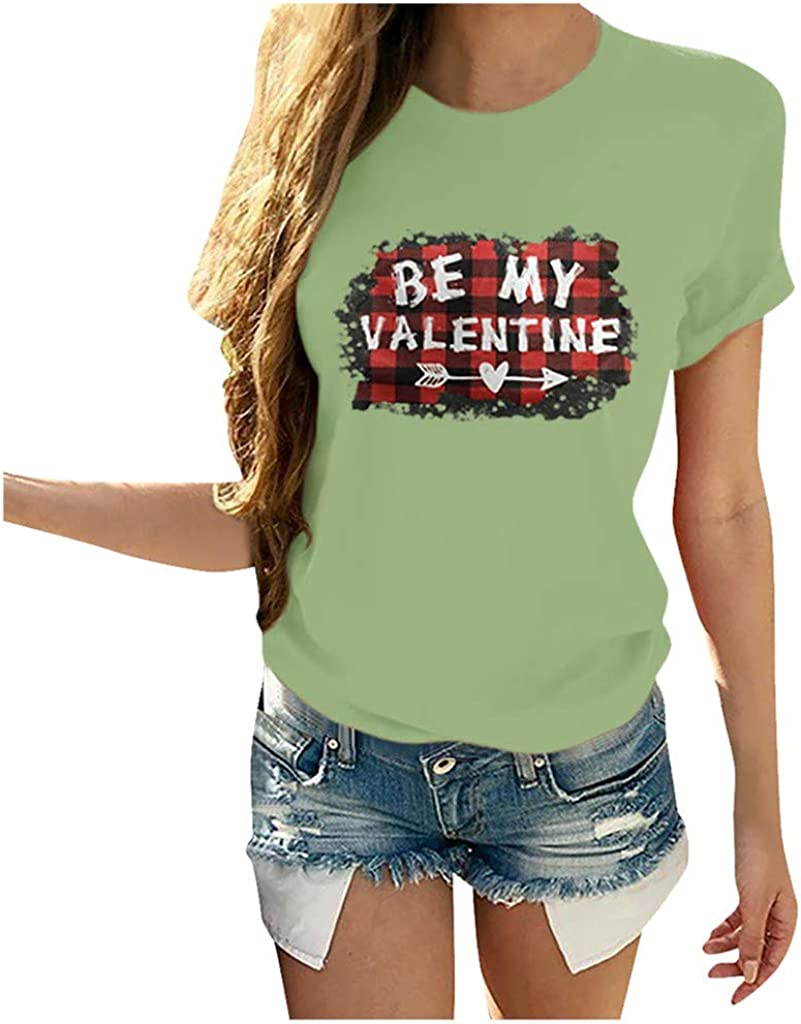 BEIBEIA low-pricing WomenLovers T-Shirt-You Warm Shirt My Heart-Print O-Neck Max 42% OFF