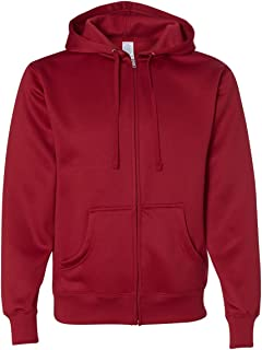 Independent Trading Co. Mens Poly-Tech Hooded Full-Zip Sweatshirt (EXP444PZ)