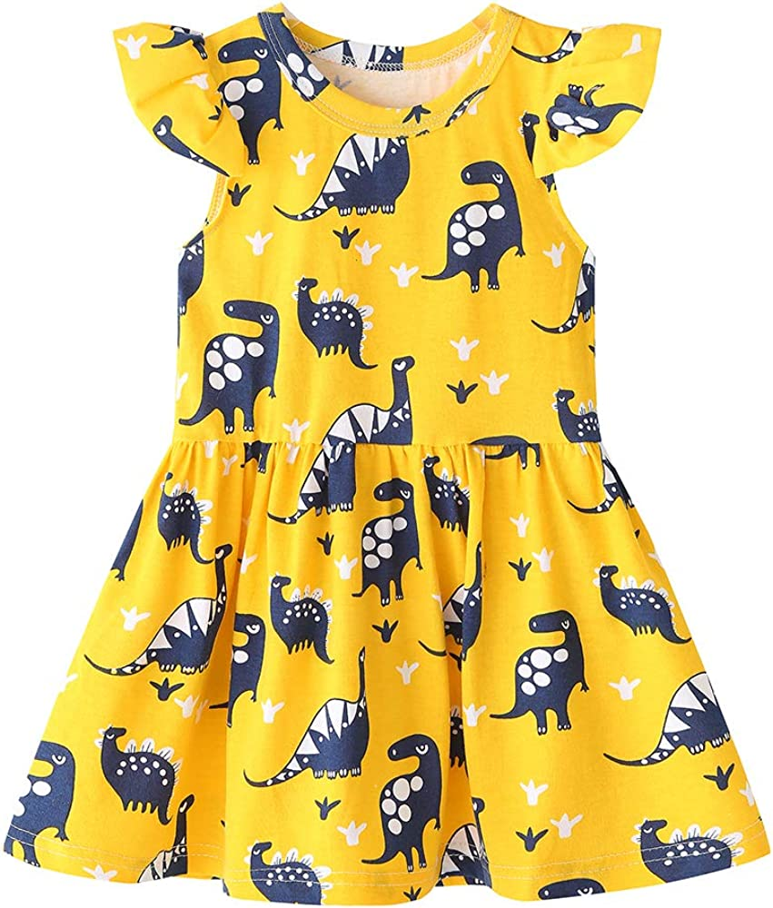 Jeinxcn Toddler Baby Girl Dinosaur Genuine safety Free Shipping Summer Dress Party Holiday Dr