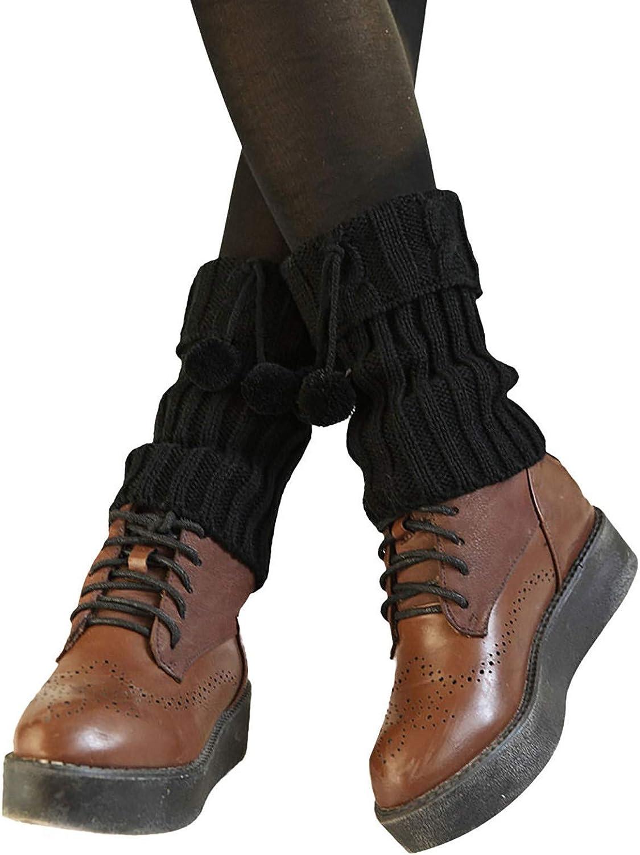 UJUNAOR Damen Stulpen H/äkelarbeit Beinw/ärmer Socken kurze Klappe Knopf Strickstiefel