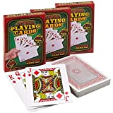 Giant 5 x 7 Inch Playing Cards - (Pack of 3 Decks) Full Big Decks of Jumbo Poker Index Playing Card Set, Each Deck is Perfect for Casino Theme Game Night and Magic Party Supplies, Stocking Stuffers