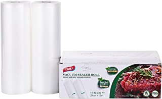 "TAILINK Vacuum Sealer Bags Rolls 2 Pack-11"" x 6"", Food Storage Saver Commercial Grade Bag (Total 200""), Great for vac Stor..."