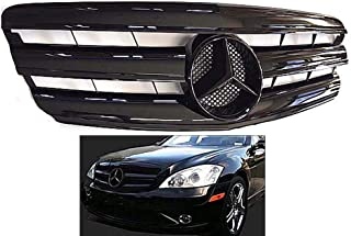Mercedes benz W221 S-Class 2007 2008 2009 All Black Glossy grille Star Emblem S550 S63 S350 Front Bumper Hood #342