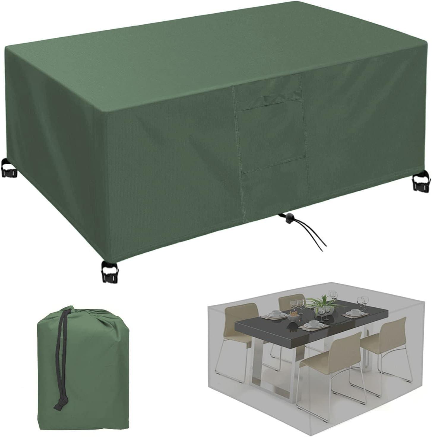 KSITH Funda para Muebles de Jardín, Funda Muebles Exterior, 420D Oxford Impermeable, Anti-UV, Resitente al Polvo para Muebles de Jardín de Patio-Green   120x60x90cm/LxWxH