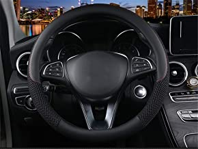Icegirl Universal 15 Inch Steering Wheel Cover - Ice Silk Breathable Anti Slip No Smell Comfort Durability Safety (Black)