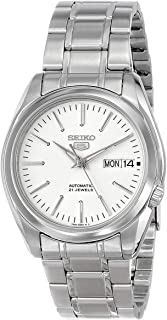 Seiko Men's Year-Round Automatic Watch with Stainless Steel Strap, Silver, 20 (Model: SNKL41K1)