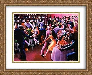 Nightlife 2X Matted 34x28 Large Gold Ornate Framed Art Print by Archibald J Motley, Jr