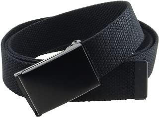 Canvas Web Belt Flip-Top Black Buckle/Tip Solid Color 50