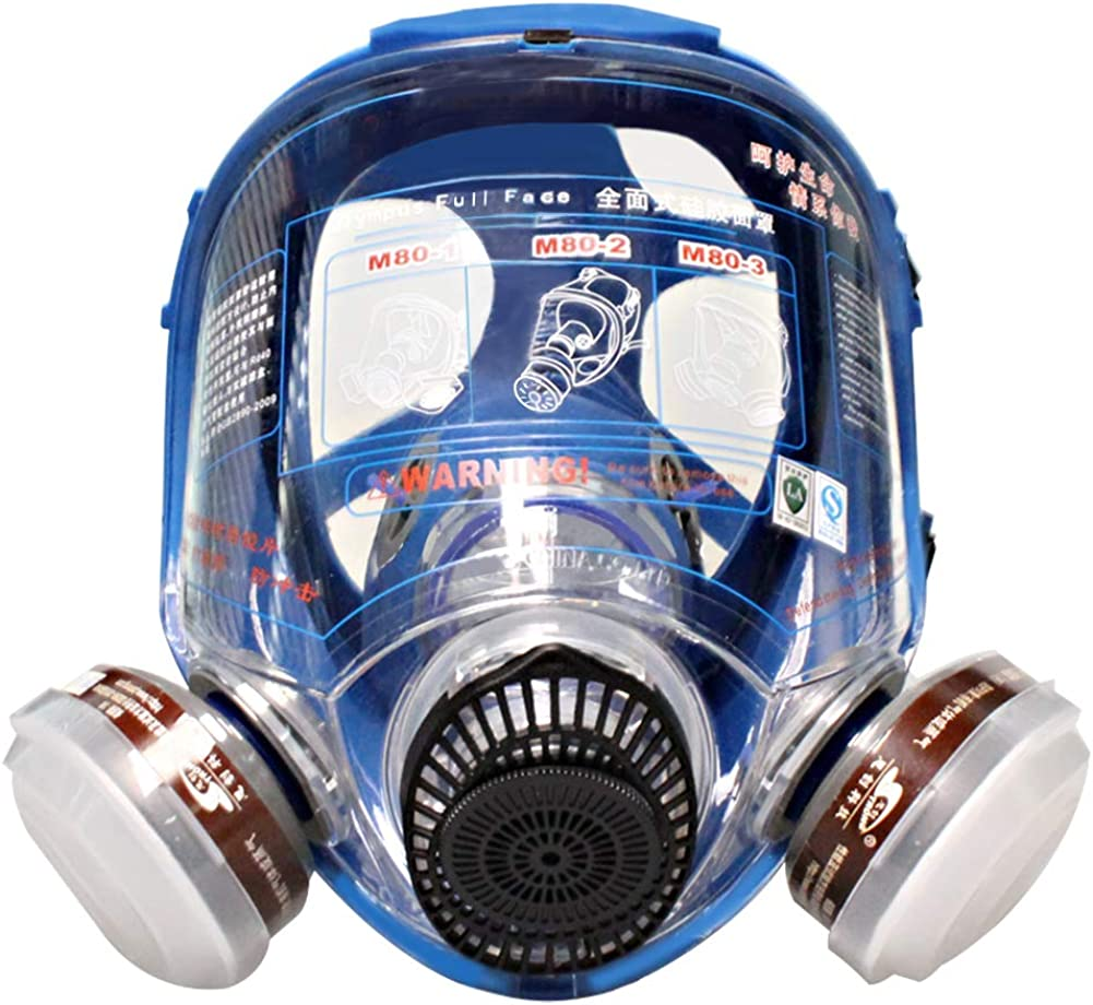 WORKCARE Full Face Reusable Limited price Respirator Filter Popular brand in the world Double Cartr Mask