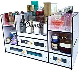 FChome 化粧品収納ボックス 引き出し アクリルPVCジュエリー 化粧品ディスプレイケース メイクアップオーガナイザーセット 特大