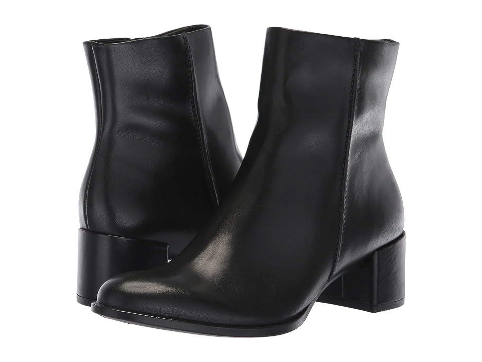 ECCO Shape 35 Block Ankle Boot (Black Cow Leather) Women