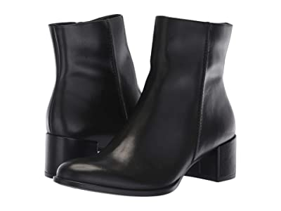 ECCO Shape 35 Block Ankle Boot (Black Cow Leather) Women