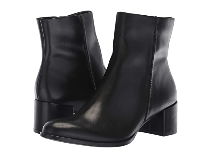 ECCO  Shape 35 Block Ankle Boot (Black Cow Leather) Womens  Boots