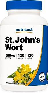 Nutricost St John's Wort Capsules (500mg) 120 Capsules- Gluten Free and Non-GMO