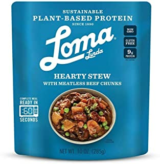 Loma Linda Blue - Plant-Based Complete Meal Solution - Heat & Eat Hearty Stew (10 oz.) (Pack of 6) - Non-GMO, Gluten Free