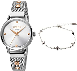 Ferre Milano Casual Watch For Women Analog Stainless Steel - FM1L136M0051-SET