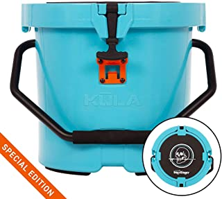 KULA 5 Gallon Cooler Blue, Lightweight, Strong Insulation, Heavy Duty, Bucket, Seat